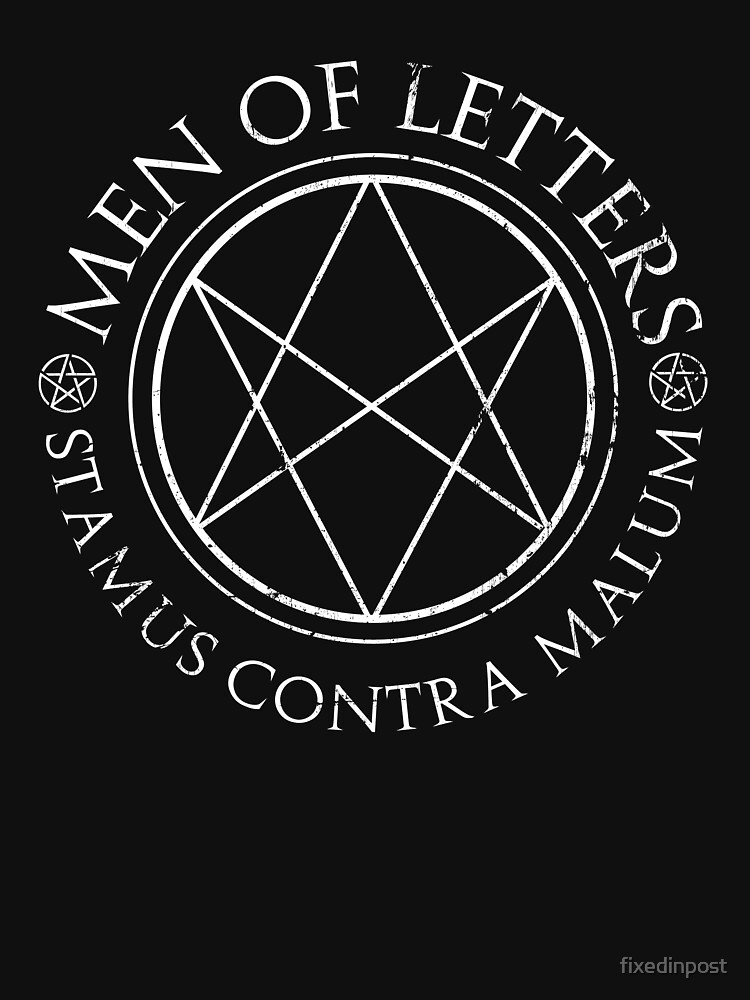 Supernatural Men Of Letters Dark Womens Relaxed Fit T Shirt By