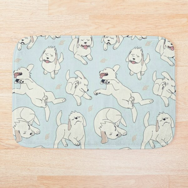 White Dog (Akamaru) pattern Bath Mat