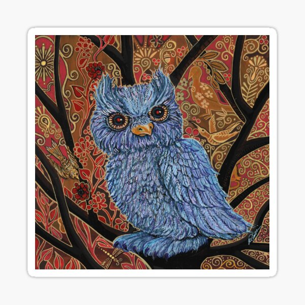 Embellished Owl Sticker