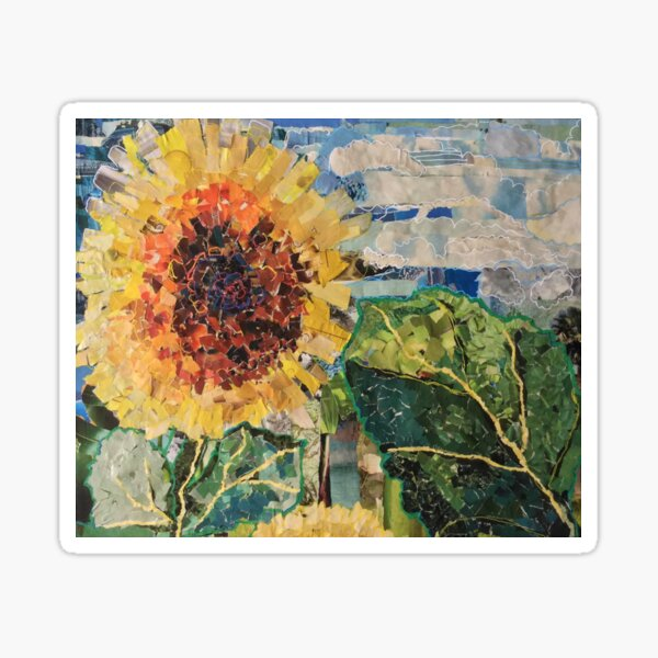 Sunflower on a Cloudy Day Sticker