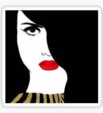 Francesca Fashion art pretty woman gold glitter art Sticker