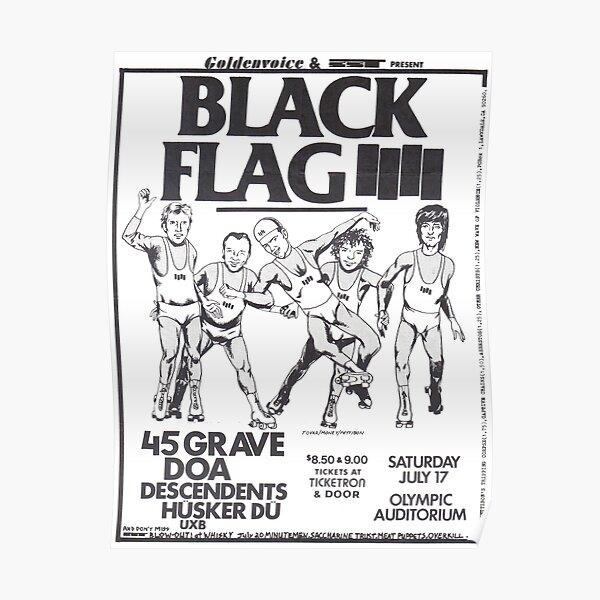 Black Flag - Concert Poster Poster