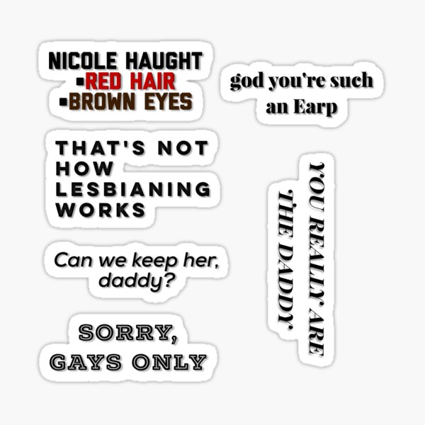 Wynonna Earp S4E01 iconic lines pack Sticker