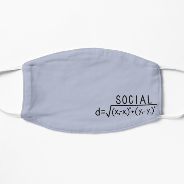 Social Distance (formula) Small/ Repeated Flat Mask