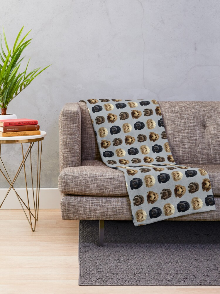 Alternate view of Cockapoo Dog Collection  Throw Blanket