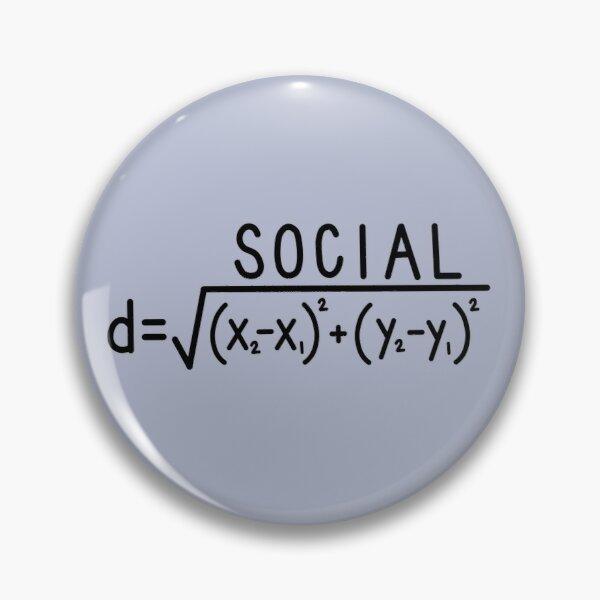 Distance sociale (formule) Badge