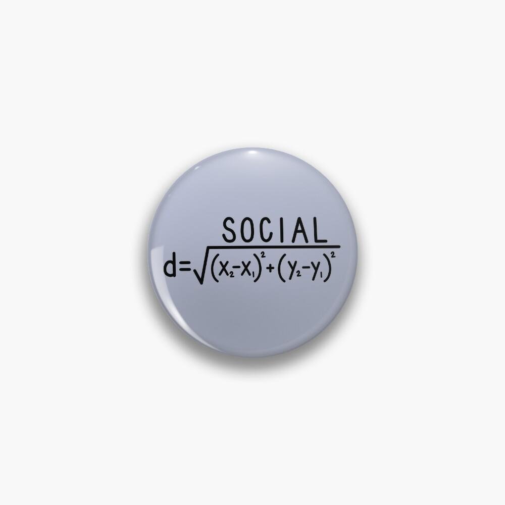 Social Distance (formula) Pin