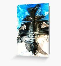blue monster Greeting Card