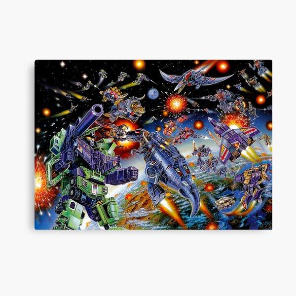 TRANSFORMERS G1 JAPANESE BOX BATTLE Canvas Print