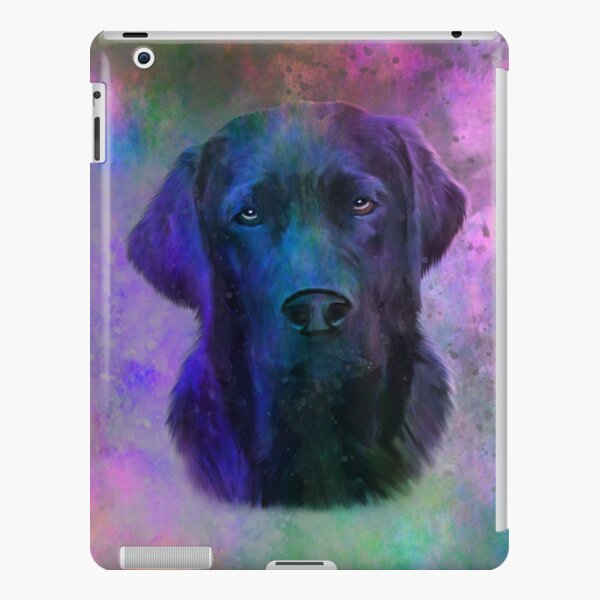 Black Labrador Dog Water Colorful Art Painting iPad Snap Case