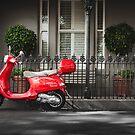Red Vespa by jamjarphotos