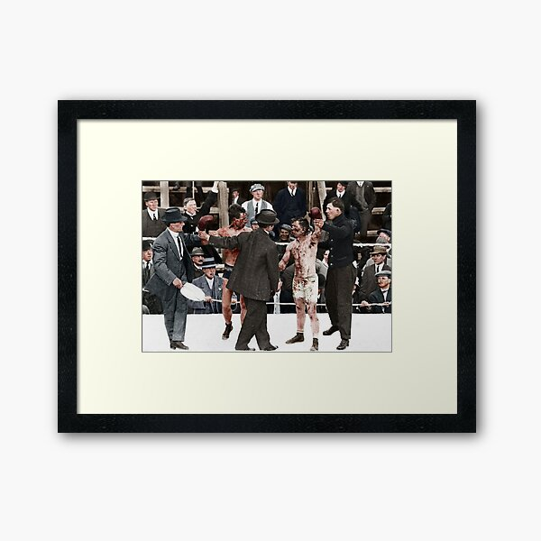 Ray Campbell vs Dick Hyland 3rd May, 1913 Framed Art Print