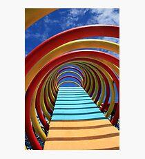 Round Colored Equipment Photographic Print