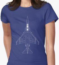 McDonnell Douglas F-4 Phantom II Blueprint Womens Fitted T-Shirt