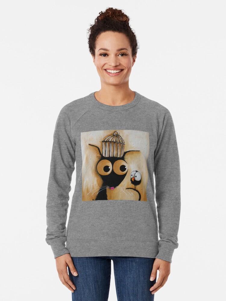 Alternative Ansicht von Der Käfig Leichter Pullover