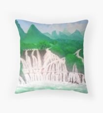 Where waterfalls Throw Pillow