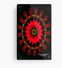 Mandala Spiral Notebook Metal Print