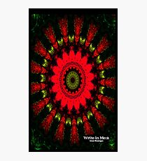 Mandala Spiral Notebook Photographic Print