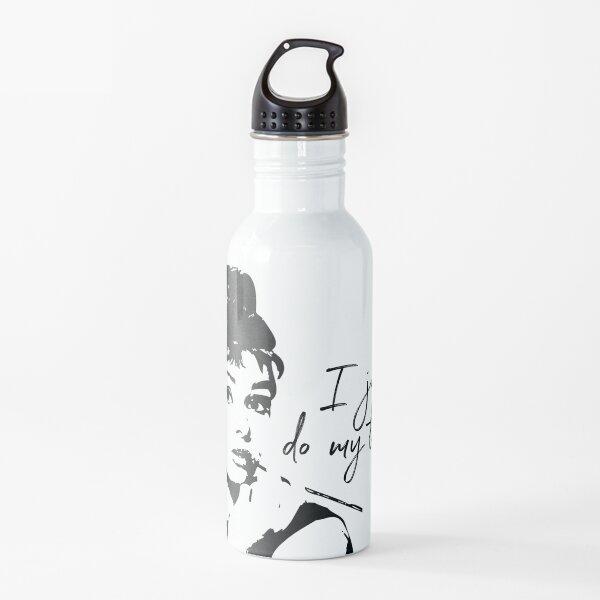 Audrey Heburn, I Just Do My Thing #blackandwhite Water Bottle