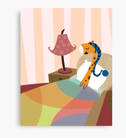 Sleepy Orange Canvas Print