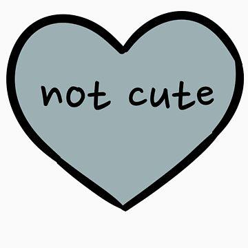 Sassy Heart–not cute–blue-grey by salvva