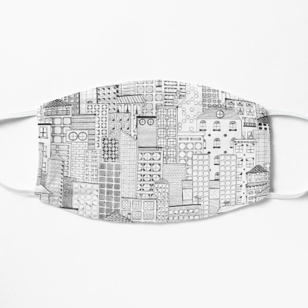 City Doodle Day Mask