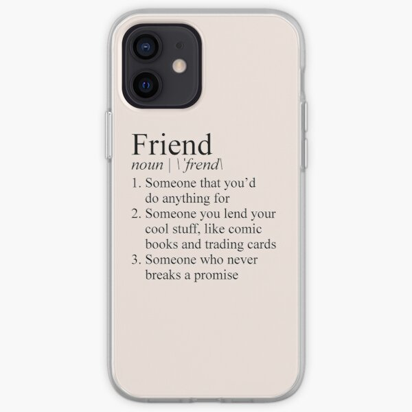 Stranger Things Friend Definition iPhone Soft Case