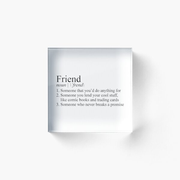 Stranger Things Friend Definition Acrylic Block