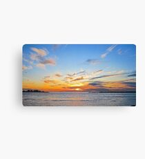 Sunrise in Gulf Shores Alabama Canvas Print