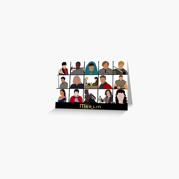 Charaktere von Merlin Grußkarte