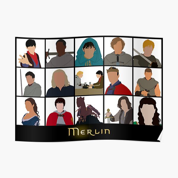 Characters Of Merlin Poster