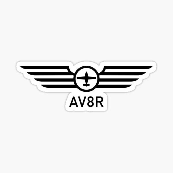 AV8R Wings Pilot Gear Sticker