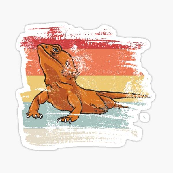 Retro Bearded Dragon Sticker