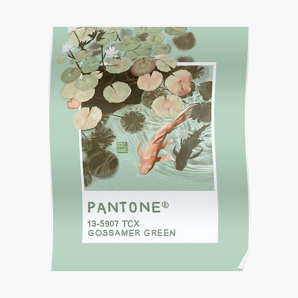 Gossamer Green Pantone  Poster