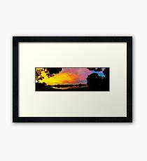 Sunset over Lake Zapper Framed Print