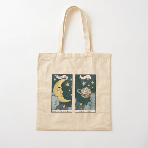 love you to the moon and back Cotton Tote Bag