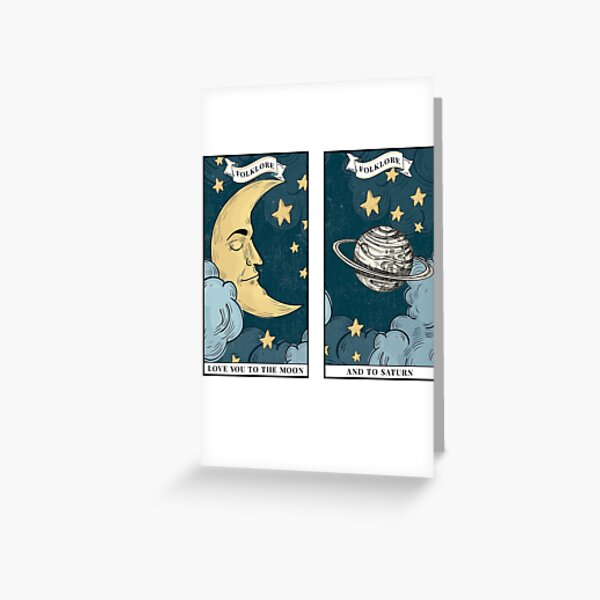 love you to the moon and back Greeting Card