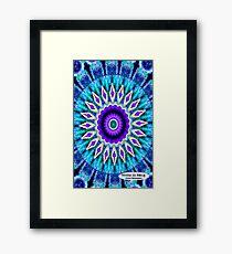 Blue and Purple Mandala Journal Framed Print