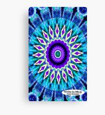 Blue and Purple Mandala Journal Canvas Print
