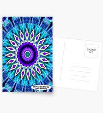 Blue and Purple Mandala Journal Postcards