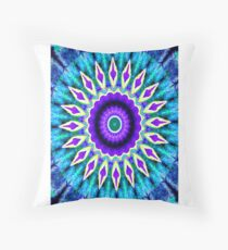 Blue and Purple Mandala Journal Throw Pillow
