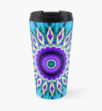 Blue and Purple Mandala Journal Travel Mug