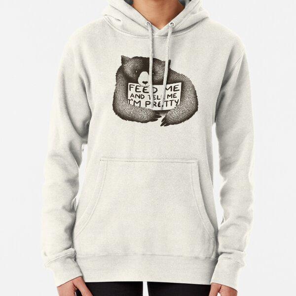 Womens Girls Cat Ear Pullover Hoodie Eat Sleep Support Repeat Cropped Sweatshirts