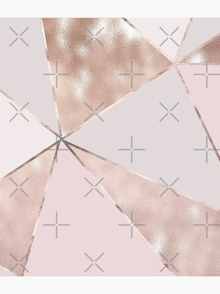 Blush Glamour Girly Trend Triangle Pattern by MysticMarble