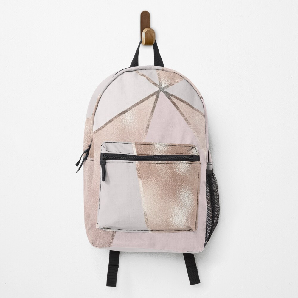 Blush Glamour Girly Trend Triangle Pattern Backpack