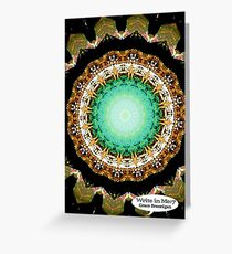 Black Gold Green Mandala Spiral Notebook Greeting Card