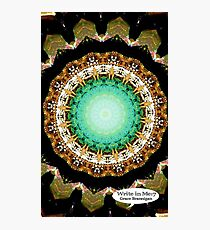 Black Gold Green Mandala Spiral Notebook Photographic Print