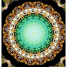 Black Gold Green Mandala Spiral Notebook by ExceptionalSilk