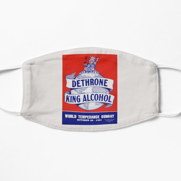 Dethrone King Alcohol - World Temperance Sunday - 1951 Mask