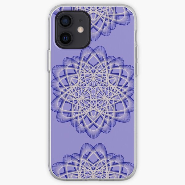 Abstract Blue Violet Atomic Swaps iPhone Soft Case